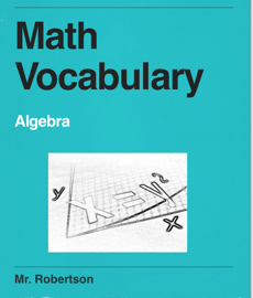 Math Vocabulary book