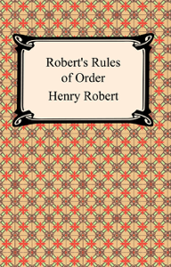Robert's Rules of Order Book Cover