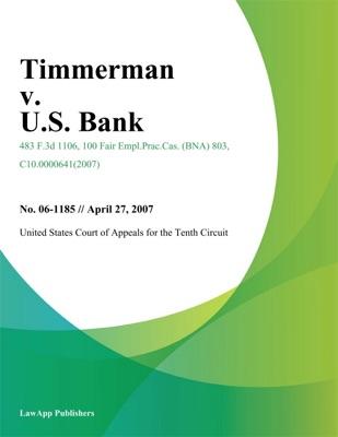 Timmerman v. U.S. Bank