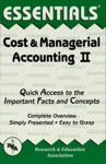 The Essentials Of Cost  Managerial Accounting II