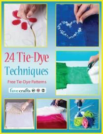 24 Tie-Dye Techniques: Free Tie-Dye Patterns