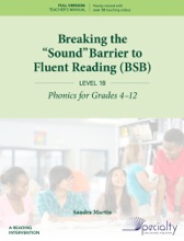 """Breaking The """"Sound"""" Barrier To Fluent Reading - Level 1B"""