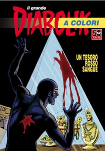 il grande Diabolik a colori - Un tesoro rosso sangue Book Cover