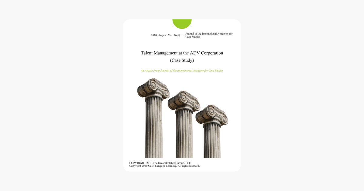 Talent Management at the ADV Corporation (Case Study)