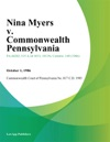 Nina Myers V Commonwealth Pennsylvania