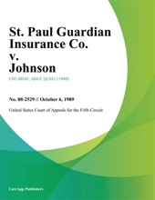 St. Paul Guardian Insurance Co. V. Johnson