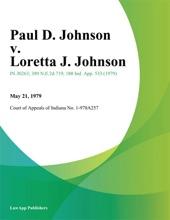 Paul D. Johnson V. Loretta J. Johnson