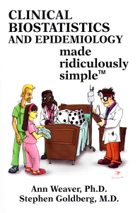 Clinical Biostatistics and Epidemiology Made Ridiculously Simple Cover Book