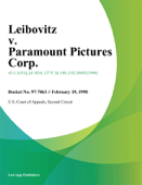 Leibovitz v. Paramount Pictures Corp.
