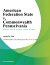 American Federation State V Commonwealth Pennsylvania