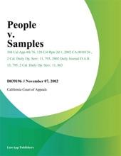 People V. Samples