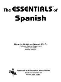 The Essentials Of Spanish