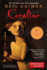Coraline 10th Anniversary Enhanced Edition Book Cover