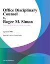Office Disciplinary Counsel V Roger M Simon