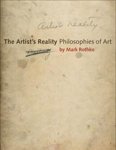 The Artist's Reality Copertina del libro