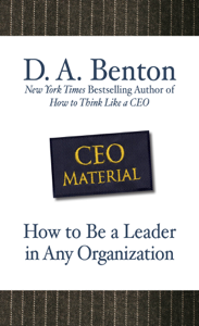 CEO Material: How to Be a Leader in Any Organization Libro Cover