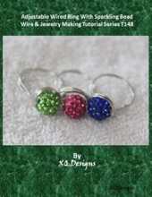 Adjustable Wired Ring with Sparkling Bead  Wire & Jewelry Making Tutorial Series T148