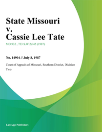 State Missouri v. Cassie Lee Tate