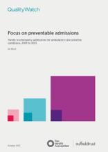 Focus On Preventable Admissions