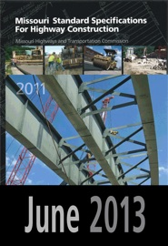 2011 Missouri Standard Specifications For Highway Construction