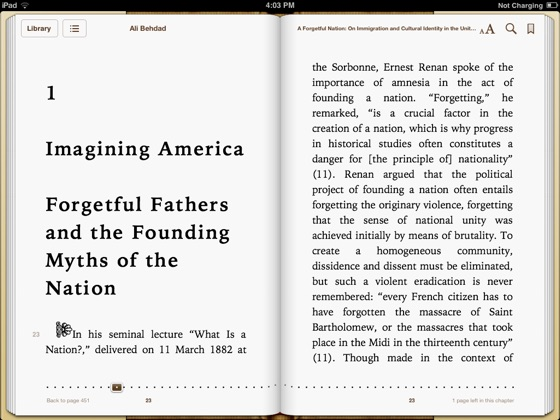 A Forgetful Nation: On Immigration and Cultural Identity in the United States by Ali Behdad
