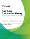 Colucci V Kar Kare Automotive Group