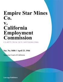 EMPIRE STAR MINES CO. V. CALIFORNIA EMPLOYMENT COMMISSION