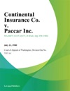 Continental Insurance Co V Paccar Inc