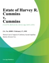 Estate Of Harvey R Cummins V Cummins