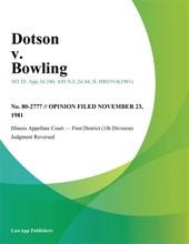 Dotson V. Bowling