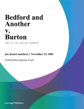 Bedford And Another V. Burton