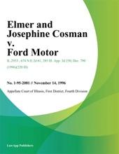 Elmer And Josephine Cosman V. Ford Motor