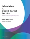 Schlobohm V United Parcel Service