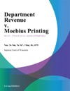 Department Revenue V Moebius Printing
