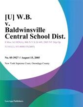 W.B. V. Baldwinsville Central School Dist.