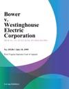 Bower V Westinghouse Electric Corporation