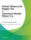 Schott Motorcycle Supply Inc V American Honda Motor Co