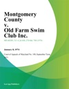Montgomery County V Old Farm Swim Club Inc