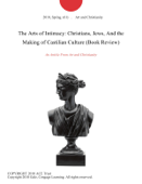 The Arts of Intimacy: Christians, Jews, And the Making of Castilian Culture (Book Review)