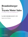 Brandenburger V Toyota Motor Sales