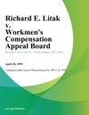 Richard E Litak V Workmens Compensation Appeal Board Comcast Cablevision