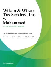 Wilson & Wilson Tax Services