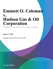 Emmett O. Coleman v. Hudson Gas & Oil Corporation
