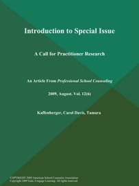 Introduction To Special Issue A Call For Practitioner Research