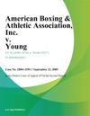 American Boxing  Athletic Association Inc V Young