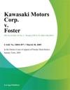Kawasaki Motors Corp V Foster