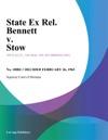 State Ex Rel Bennett V Stow