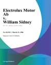 Electrolux Motor Ab V William Sidney