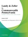 Landy  Zeller V Commonwealth Pennsylvania