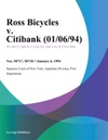 Ross Bicycles V Citibank